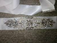 Diamante and pearl bridal prom belt