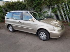 2003 kia sedona 2.9 crdi se full leather new mot towbar nice clean car 6 seater 71000 miles history