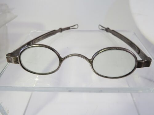 EARLY 1800S READING EYEGLASSES COIN SILVER FRAMES SIGNED BOLLES & DAY