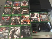 Xbox one with 14 games