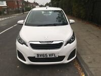 PEUGEOT 108 2015 TOUCH SCREEN WITH MANUFACTURE WARRENTY ZERO ROAD TAX HPI CLEAR 1 PREVIOUS OWNER