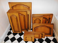 Full Set of Solid Wood Medium Oak Kitchen Cupboard Doors & Drawer Fronts