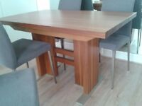 Heal's dining table and 4 chairs