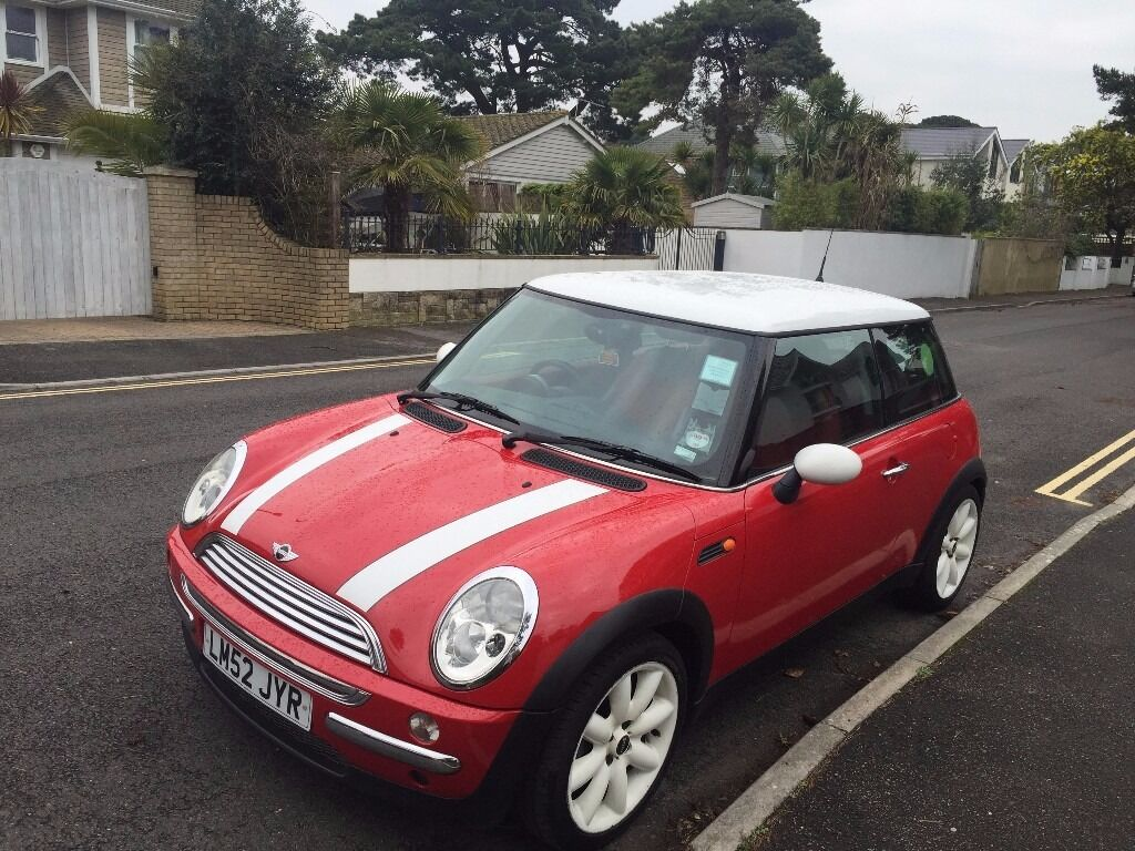 fantastic red mini cooper 2003 1 6l hatchback petrol 53 035miles one previous owner in poole. Black Bedroom Furniture Sets. Home Design Ideas