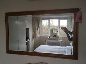 Extra large wooden Mirror