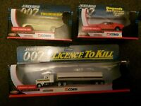 James bond 007 aston martin, kenworth tanker & mustang mach I new in boxes