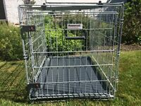 Dog / Puppy Crate: two door dog crate size medium