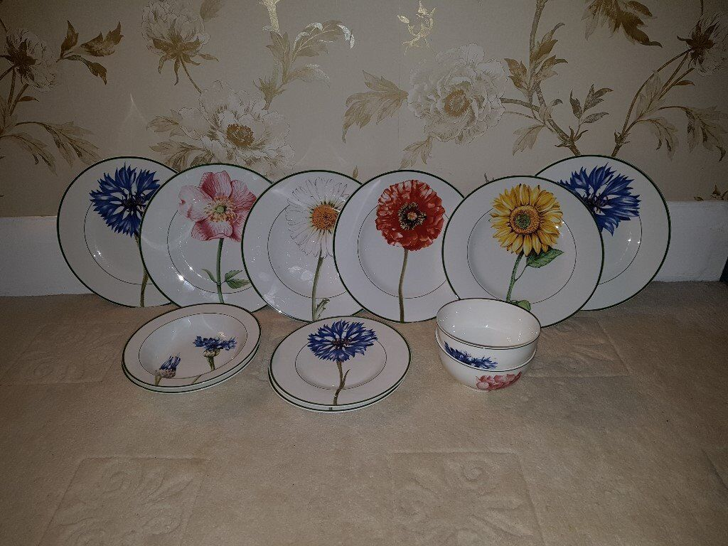 Villeroy Boch Flora Plates For Sale In Wallington London