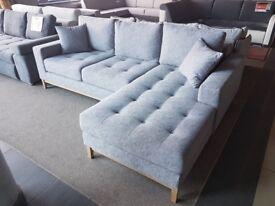 Corner Sofa Bed *VINOTTI* Very Soft Sleeping function Storage Scandinavian Grey