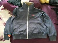 Superdry Fleece Jacket with Fluffy Collar
