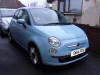 Fiat 500 1.2 Lounge Dualogic (5 Speed Semi-Auto) 2014 one prev owner with only 4700 miles!