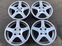 "Set of 4 used wheels only Ford fitment 15"" 4 Stud made by Team Dynamics Used condition"