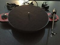 Pro-Ject (Project) Elemental Phono USB Turntable with OM5E Cartridge - Red