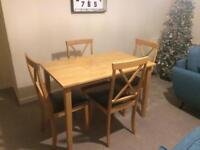 Dining Table & chairs, must be collected tomorrow