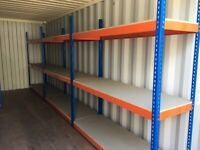 JOB LOT 20 bays Rapid 1 industrial long span shelving 7ft high. ( pallet racking , storage )