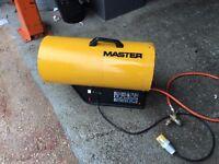 MASTER BLP 53KW SPACE / WORKSHOP HEATER .INCLUDING FULL GAS BOTTLE