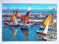 Caorle (?) Barche A Vela Pescatori Venezia Vecchia Cartolina 2 -  - ebay.it