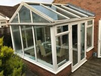 UPVc Conservatory with Glass roof.