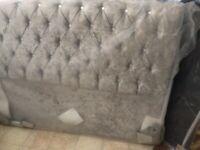 Crush velvet headboard (fits King-size bed)