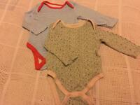 Two Baby Girls Long-Sleeved Vests, 9-12mths, Primark