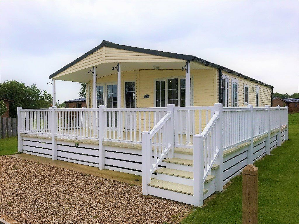2005 Omar Kingfisher Lodge With Decking On Country Park Tattershall Holiday Homes Caravans
