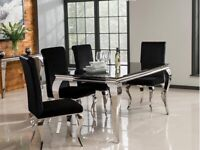 Louis dining table and 4 chairs