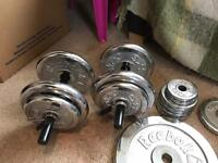 60kg Reebok weights plus bars