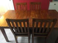 Dining Room Extending Table and Chairs