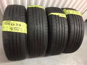 4 Goodyear Eagle all season tires:205/60R16