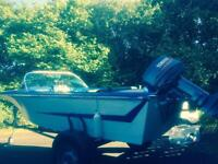 Broom 1972 boat and trailer