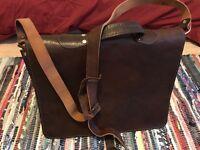 leather briefcase, handmade