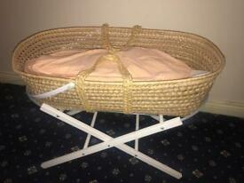 Brand new baby's Moses basket and stand