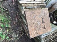18 slabs 450x450 yellow brown colour 50p each