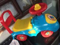 Baby pull along car £10
