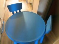 Child's table & 2 chairs IKEA