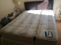 Good quality kingsize divan bed by Rest Assured with ortho pocket matress