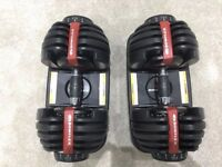 Bowflex 2-24 Kg Select Dumbbells (Pair) 15 dumbbells in one