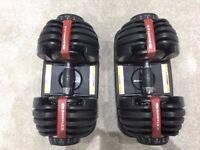 Bowflex 2-24 Kg Select Dumbbells (Pair) 15 dumbbells in one