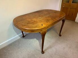 Wooden table with marquetry top