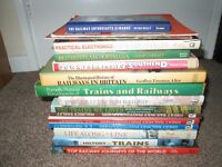 Collection of 16 Railway Trains Model Modeller Southend Steam Photographers Books Lot