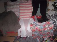 Ladies bundle of size 12 clothes, 8 pieces, jumper, vest, leggings and tops