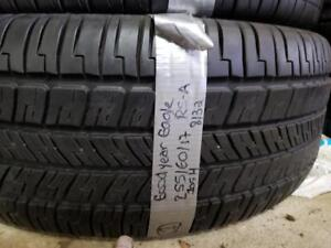 1 summer tire Goodyear eagle rs-a 255/60r17