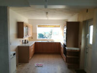 Limed Oak Fitted Kitchen Units, Real Wood Doors