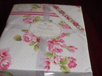 Pink & Cream Brand new double duvet set