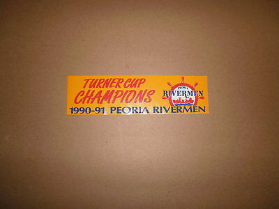IHL Peoria Rivermen Turner Cup Champions Bumper Sticker