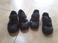 Clarks black leather boys school shoes
