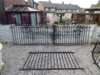 Wrought Iron Railings & Gates / Fencing / Driveway / Garden fencing / Lovely ball top fence & gates