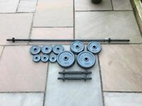 Pro Power cast iron dumbbell set