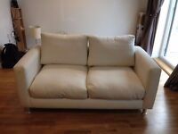 White Suede Sofa for Sale - Good Condition