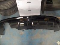 2013 AUDI Q5 Rear Lower Spoiler Painted Black
